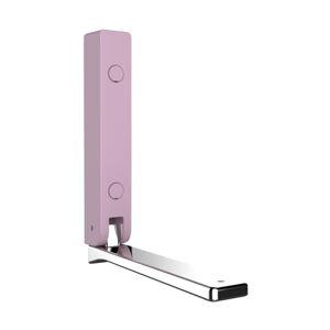 Růžový nástěnný skládací háček Wenko Basic BETA