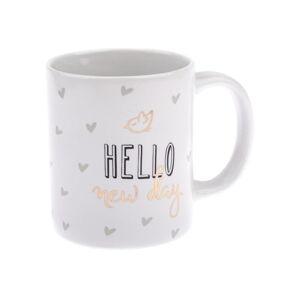 Porcelánový hrnek Dakls Hello New Day, 320 ml