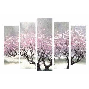 5dílný obraz na plátně Cherry Blossom