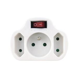 Rozbočovací zásuvka se 3 zásuvkami a vypínačem EMOS