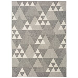 Šedý venkovní koberec Universal Clhoe Triangles, 140 x 200 cm