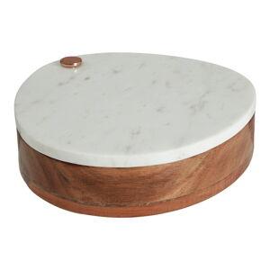 Mramorové prkénko na sýr s úložným prostorem pro nože Premier Housewares Marble