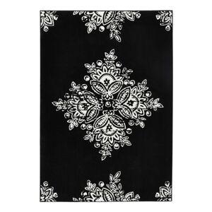 Černobílý koberec Hanse Home Gloria Blossom, 200x290cm