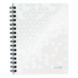 Bílý linkovaný blok Leitz A5, 80 stran