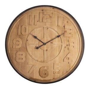 Nástěnné hodiny v dřevěném dekoru Antic Line, ø 80 cm