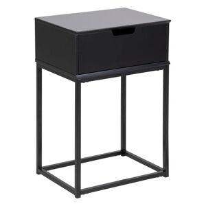 Černý noční stolek Actona Mitra,40x30cm