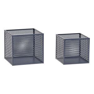 Sada 2 šedých úložných boxů Hübsch Pittao