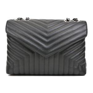 Černá kožená kabelka Luisa Vannini, 23 x 34 cm