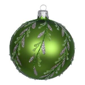 Sada 3 zelených skleněných vánočních ozdob Ego Dekor Forest