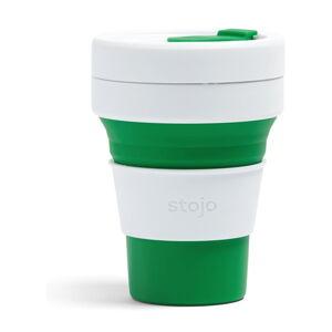 Bílo-zelený skládací hrnek Stojo Pocket Cup, 355 ml