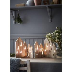 Dřevěná vánoční světelná dekorace Markslöjd View Natural
