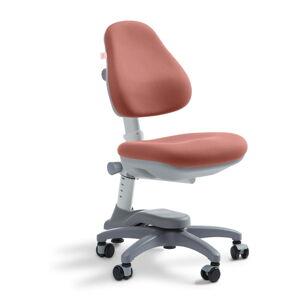 Růžová dětská otočná židle na kolečkách Flexa Novo, 4 - 10 let