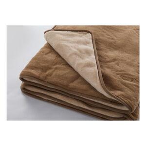 Hnědá deka z merino vlny Royal Dream Quilt,140x200cm
