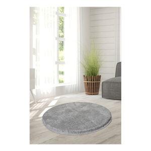Světle šedý koberec Milano, ⌀90cm