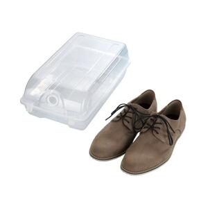Transparentní úložný box na boty Wenko Smart, šířka 21 cm