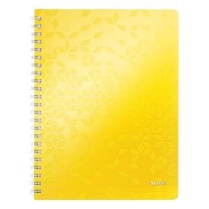 Žlutý linkovaný blok Leitz A4, 80 stran