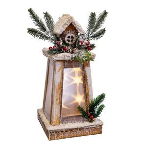 Světelná vánoční dekorace ve tvaru majáku Unimasa Madera, výška 33 cm