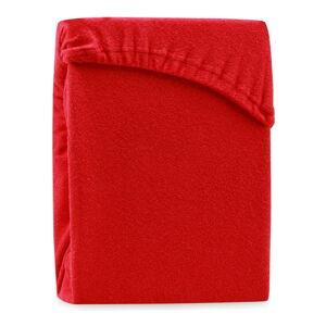 Červené elastické prostěradlo na dvoulůžko AmeliaHome Ruby Siesta, 220/240 x 220 cm