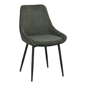 Zelená manšestrová jídelní židle Rowico Sierra