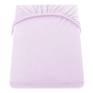Světle fialové elastické prostěradlo DecoKing Amber Collection, 100/120 x 200 cm