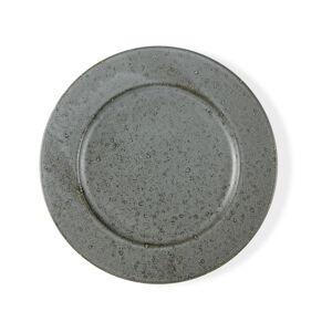 Šedý kameninový mělký talíř Bitz Mensa, průměr 27 cm