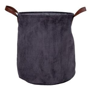 Šedý manšestrový koš na prádlo House Nordic Augusta