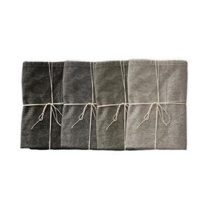 Sada 4 látkových ubrousků s příměsí lnu Linen Couture Cool Grey, 43 x 43 cm