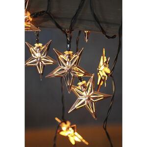 Černý LED světelný řetěz Best Season Copper Stars, 10 světýlek, délka 1,35 m