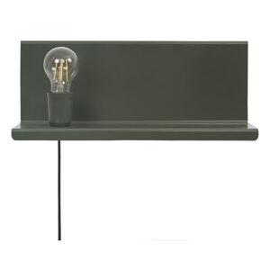 Zelené nástěnné svítidlo s poličkou Homemania Decor Shelfie2