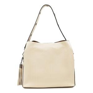 Béžová kožená kabelka Mangotti Bags, 30 x 26 cm