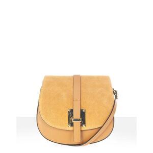 Koňakově hnědožlutá kožená kabelka Anne & Elle Lucia