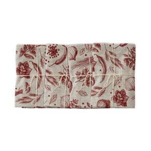 Sada 4 látkových ubrousků s příměsí lnu Linen Couture Red Peppers, 43 x 43 cm