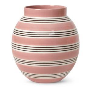 Růžovo-bílá porcelánová váza Kähler Design Nuovo, výška 20,5 cm