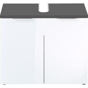 Bílo-šedá skřínka pod umyvadlo Germania Pescara,šířka70cm