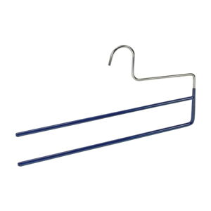 Modré protiskluzové ramínko na kalhoty s 2 držáky Wenko Hanger Baggy