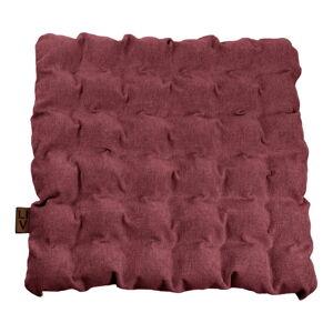 Červeno-fialový sedací polštářek s masážními míčky Linda Vrňáková Bubbles, 55x55cm
