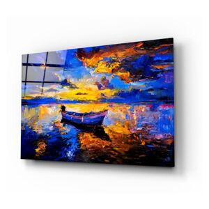 Skleněný obraz Insigne Navy Blue Sunset,72 x46cm