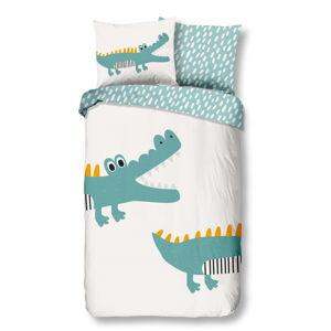 Dětské bavlněné povlečení Good Morning Crocodile,140x220cm
