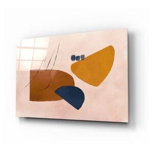 Skleněný obraz Insigne Abstract Brown,72 x46cm