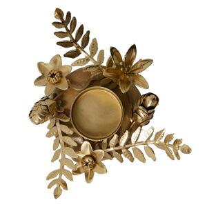 Svícen ve zlaté barvě Green Gate Flower