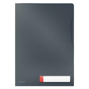 Šedé neprůhledné kancelářské desky Leitz Cosy, A4