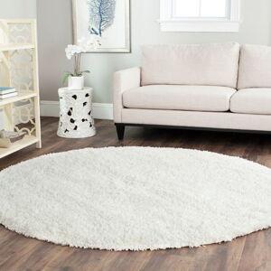 Bílý vlněný koberec Royal Dream Pure Light,průměr 200cm