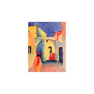 Reprodukce obrazu August Macke - A Glance Down an Alley,60x45cm