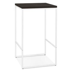 Černý barový stůl s bílými nohami KokoonTikafe, výška 105cm