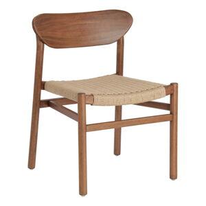 Zahradní židle z eukalyptového dřeva s ořechovým dekorem La Forma Galit