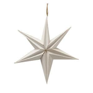 Bílá vánoční papírová závěsná dekorace ve tvaru hvězdy Boltze Kassia, ø 20 cm