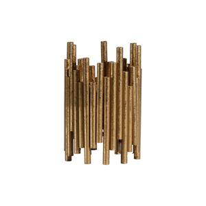 Kovový svícen ve zlaté barvě BePureHome, výška 18 cm