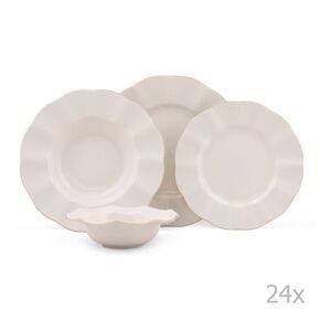 24dílná sada porcelánového nádobí Kutahya Waves
