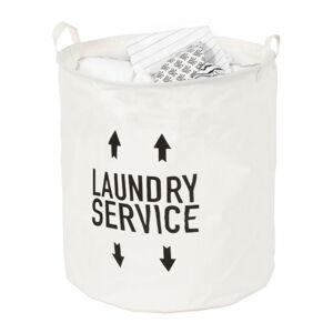 Bílý textilní koš na prádlo Compactor Arrow