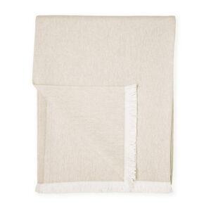 Béžový pléd s podílem bavlny Euromant Summer Linen, 140 x 180 cm